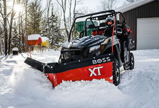 BOSS Snowplow Extends Its Line of ATV and UTV Snowplows