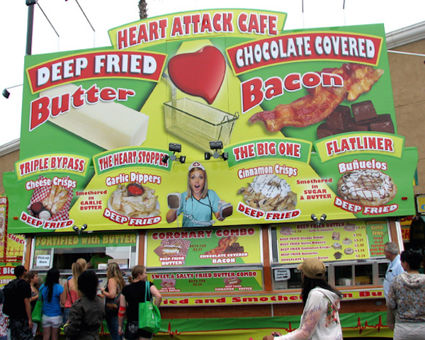 Heart Attack Cafe? Food vendors have created every concoction under the sun.