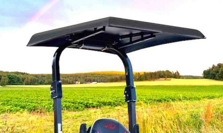 Universal ROPS-Mount Canopy Made from Lightweight Aluminum