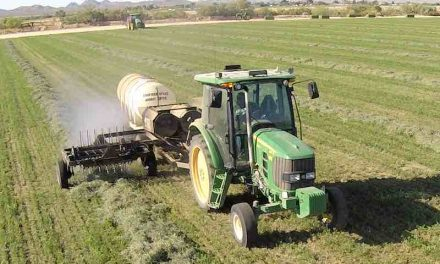 Dew Maker that Applies Hot Mist to Dry Hay Created by Harvest Tec
