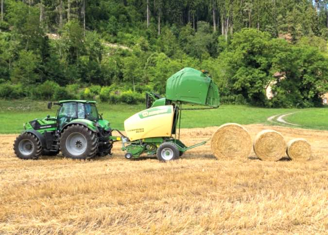 Krone's New Comprima Round Baler Features Camless Pick-up Design