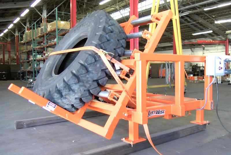 Safely Position Weighted Tractor Tires with the New Tilt Table