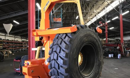 High Capacity, Remote-Controlled Tire Handler