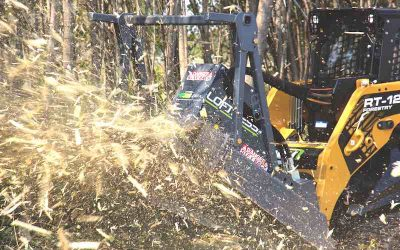 """Disc Mulcher Attachment for Skid Steers from Loftness is One """"Bad Ax"""""""