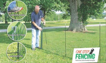 Temporary Fence Kit Requires No Tools, No Sweat to Install