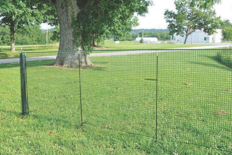 Secure fence with ties.