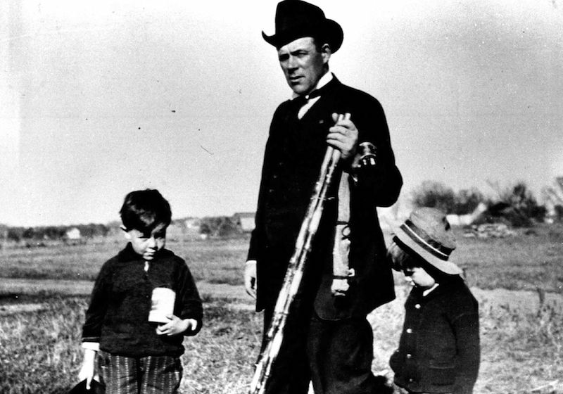 "Ole Rolvaag with his sons Karl (a future Minnesota governor, left) and Paul. The elder Rolvaag's 1926 book ""Giants in the Earth"" described the psychological struggles of Scandinavian immigrants."