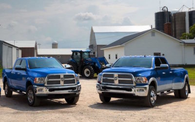 RAM Harvest Edition Trucks Now Available in New Holland Blue