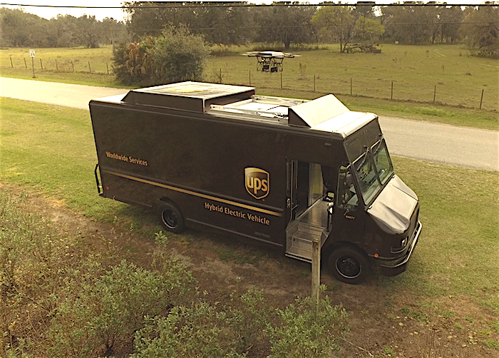 In addition to its SureFly project, Workhorse has also worked to developed a drone delivery system that utilizes a delivery truck and drone working in unison to help drop-off packages from the truck to the destination in the last-mile of a package's delivery route. UPS has tested the system.