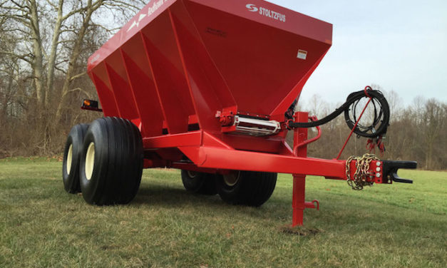 New 10-Ton Ground Drive Lime and Fertilizer Spreader from Stoltzfus
