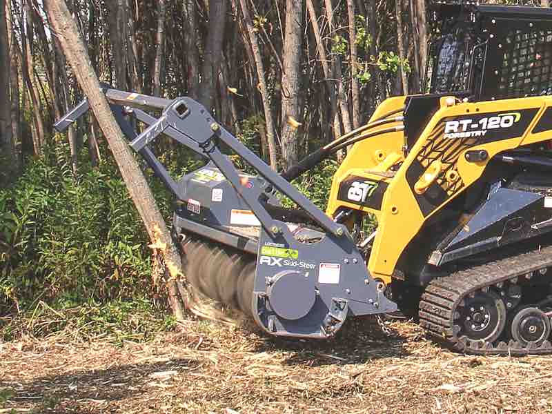 Horizontal Drum Mulcher Designed for Skid Steers Introduced by Loftness